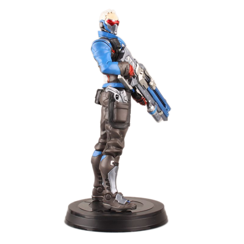 pvc pop blizzard game toys 76 blue scanime soldier overwatch action figure for Collection