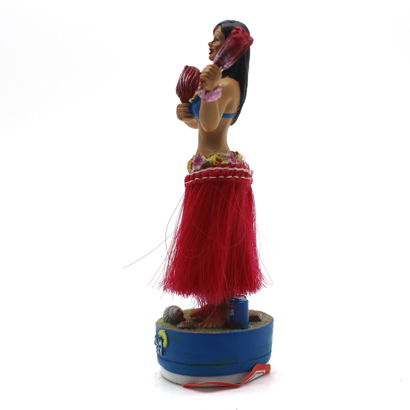 Dancing Toy Figure Doll Shaking Head Dashboard Hawaiian Hula Girl Bobble Head para el coche Decoraciones interiores Adorno