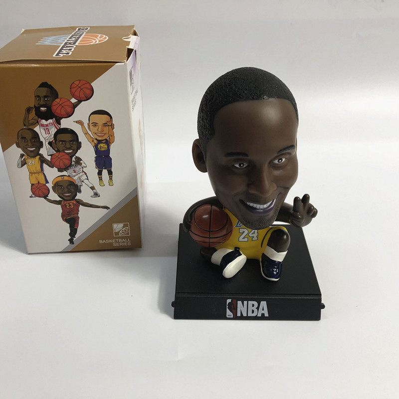 PVC movible personalizado pop jugador de baloncesto bobble head mini nba figura de acción